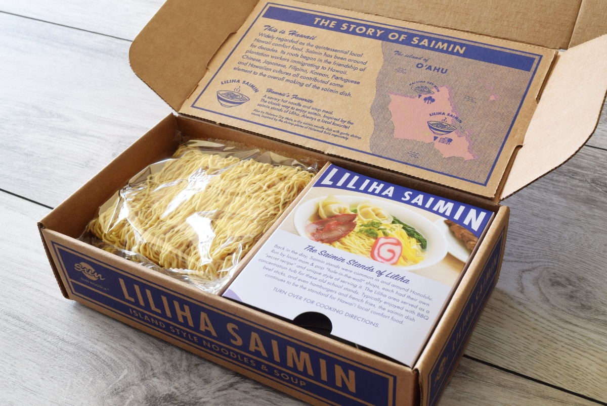 Liliha Saimin Gift Box - Inside