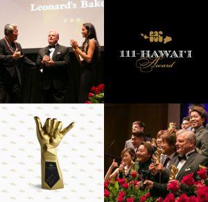 111-Hawaii Award Ceremony, Logo, Trophy, and Winners