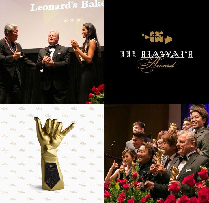 111-Hawaii Award Ceremony Logo, Trophy, and Winners
