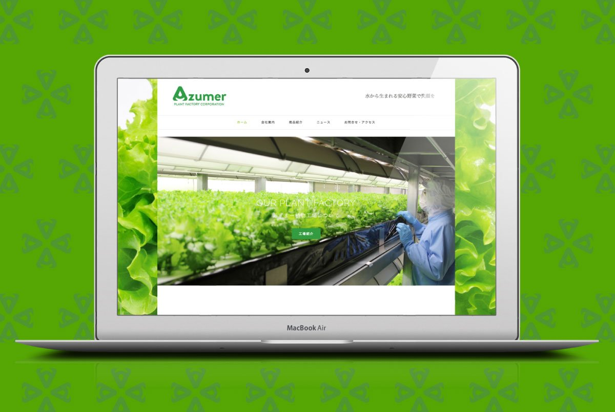 azumer website on laptop