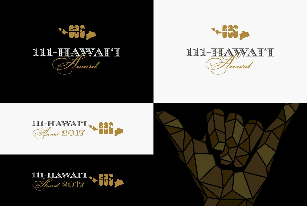 111-Hawaii Award Logo Variations & Shaka Graphic