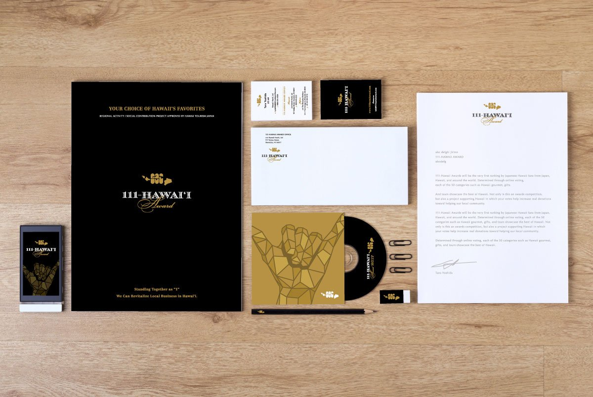 111-Hawaii Award Branding Collateral