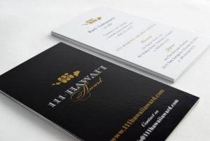 111-Hawaii Award Business Card Closeup