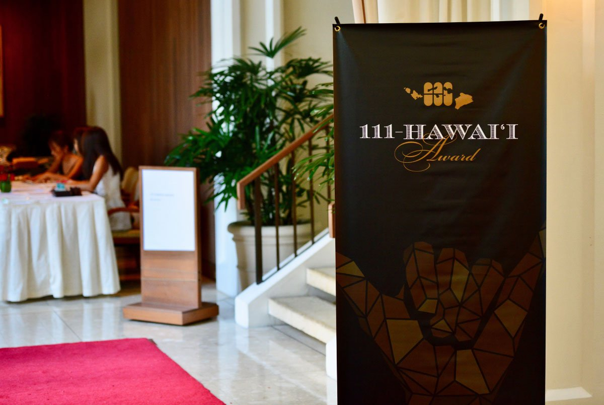 111-Hawaii Award Ceremony Stand Banner