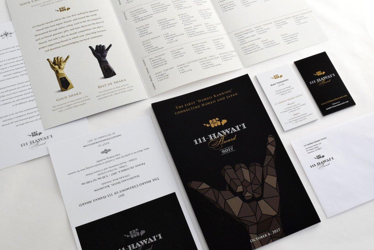 111-Hawaii Award Print Collateral