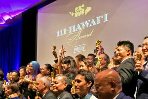 111-Hawaii Award Winners With Their Trophies