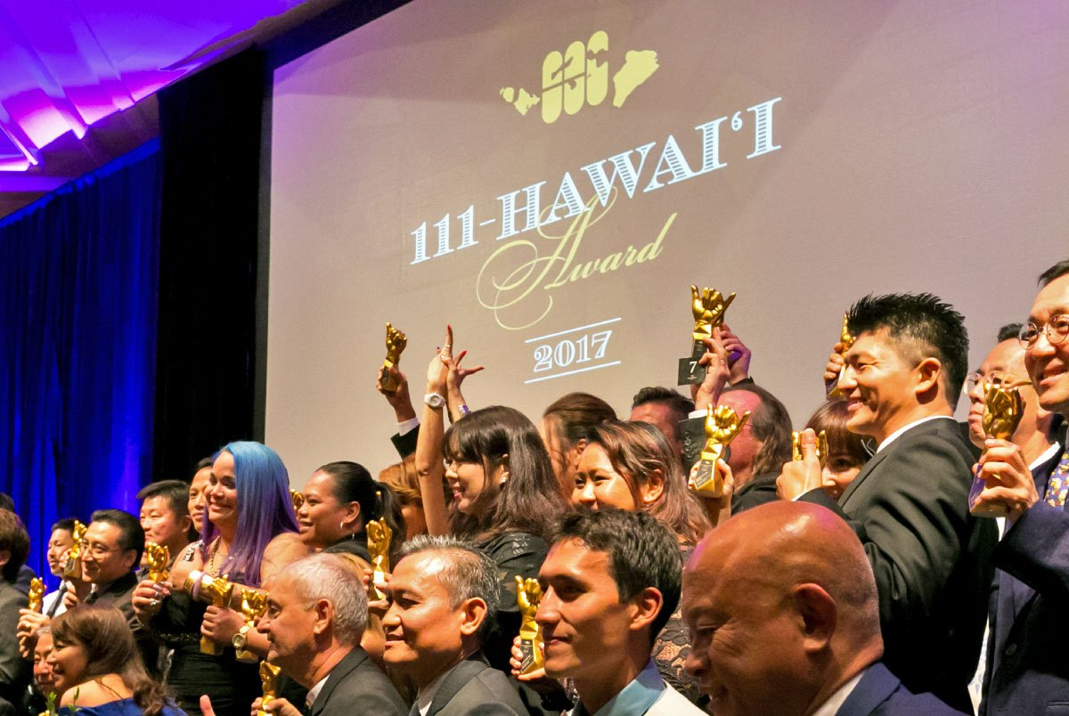 111-Hawaii Award Winners With Their Trophies