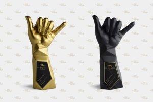 111-Hawaii Award Gold & Black Trophies