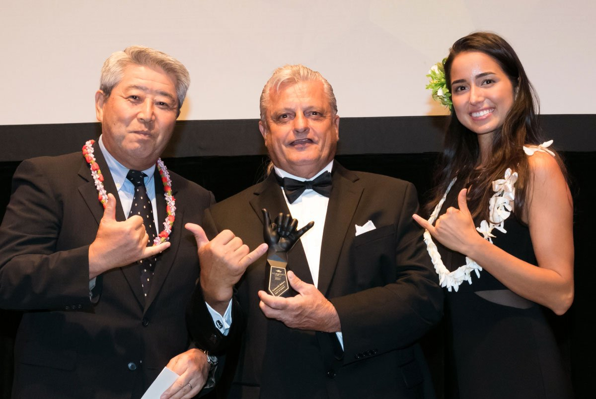 111-Hawaii Award Winner With Their Trophy