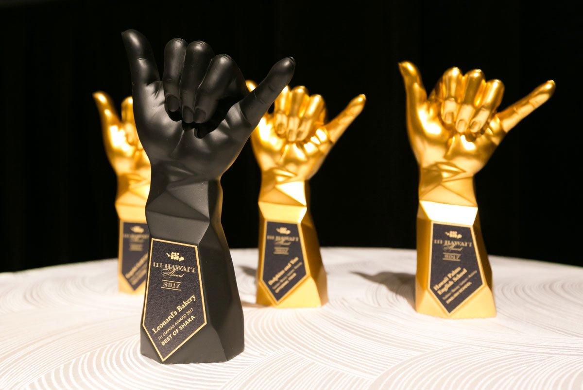 111-Hawaii Award Trophies Closeup