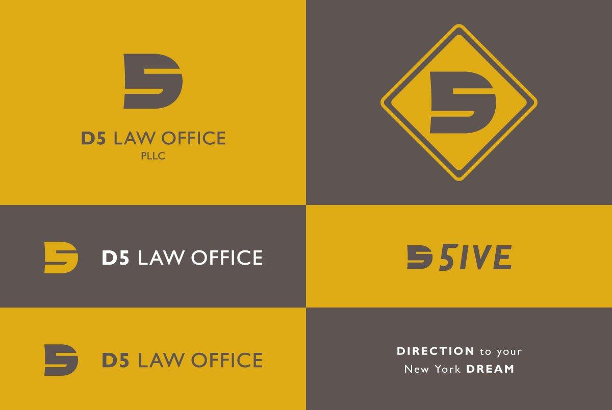 D5 Law Office Logo Variations
