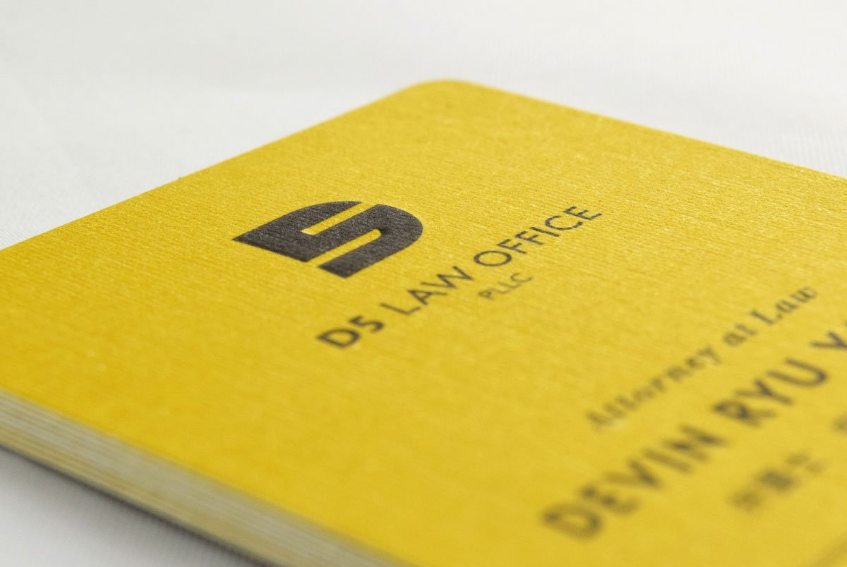 D5 Law Office Business Card Front Closeup