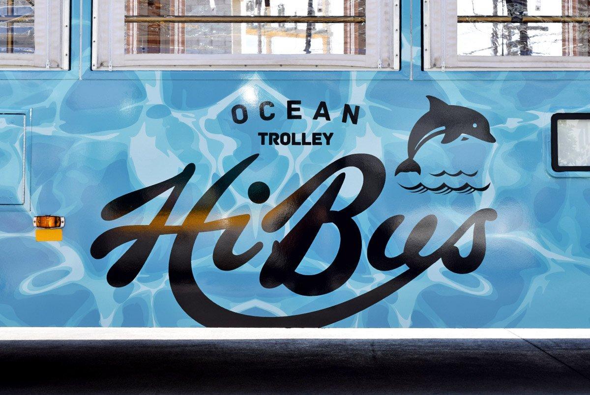 Ocean Trolley Bus Graphics
