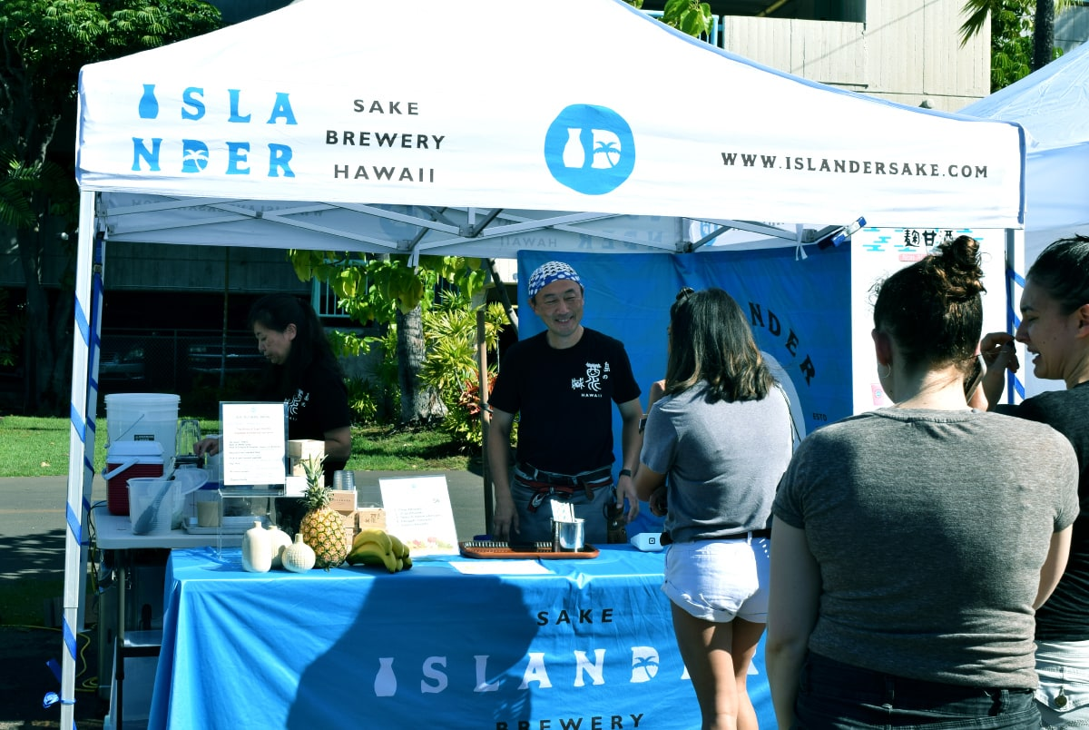 Islander Sake Event Booth