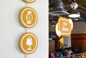 Eco Home Icon Signs