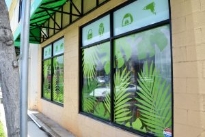 Eco Town Store Window Stickers