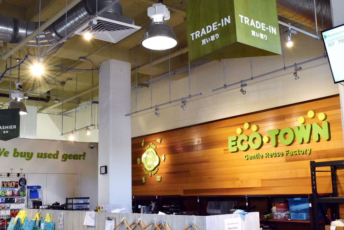 Eco Town Store Interior Signage