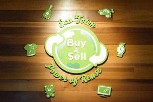 Eco Town Secondary Logo Signage Closeup