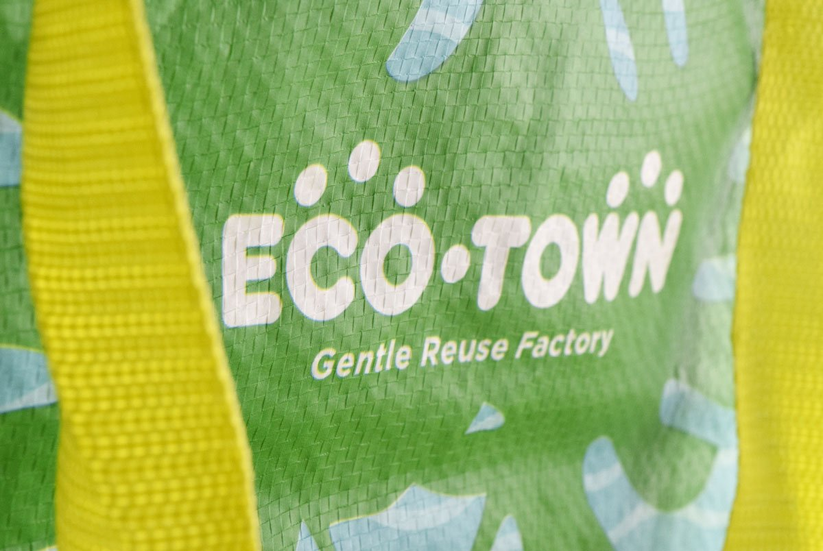 Eco Town Shopping Bag Closeup