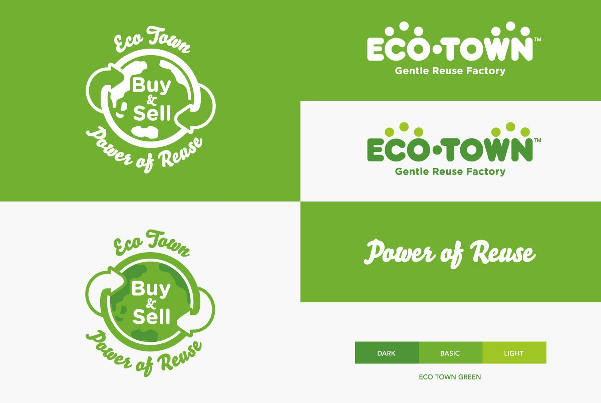 Eco Town Logo Variations
