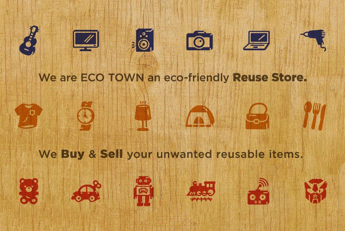 Eco Town Description Signage