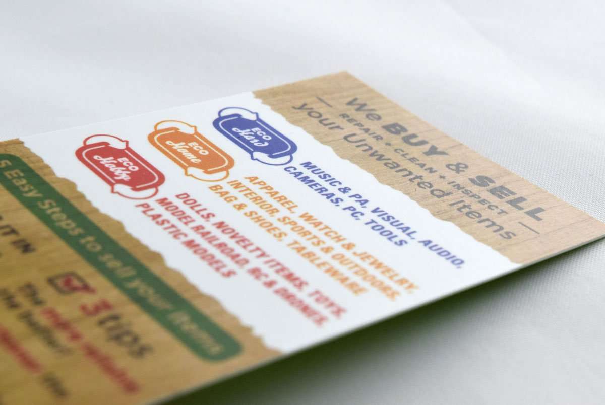 Eco Town Business Card Closeup