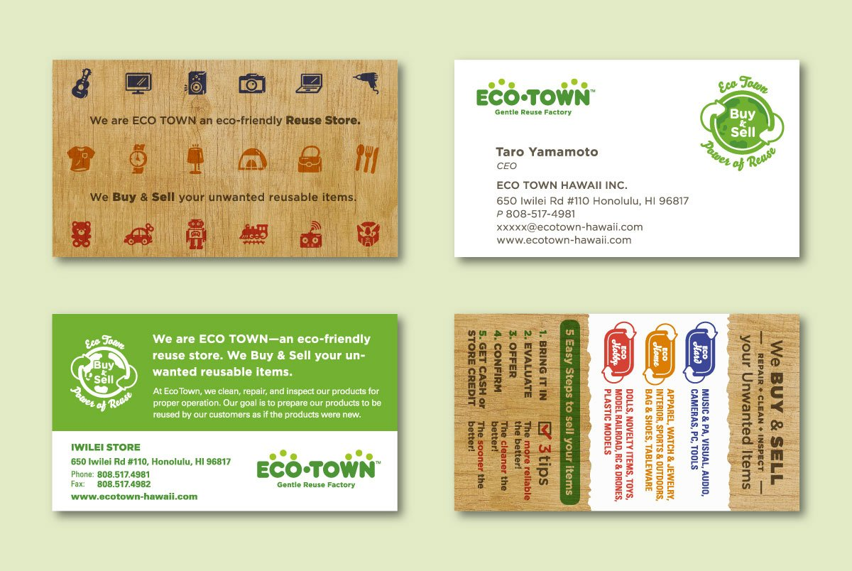 Eco Town Business Card Variations