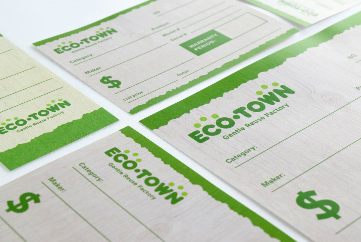 Eco Town Price Cards Closeup