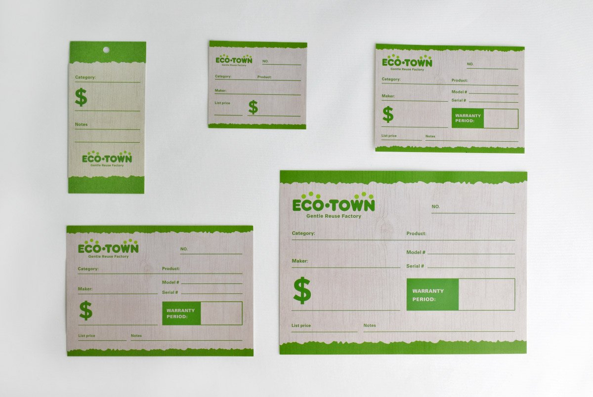 Eco Town Price Cards
