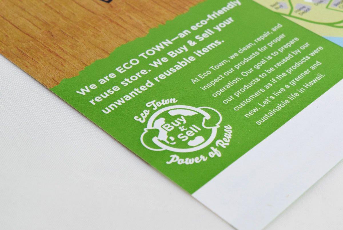 Eco Town Flyer Closeup