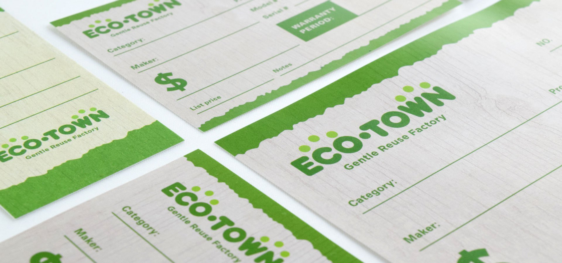 Eco Town Print Collateral