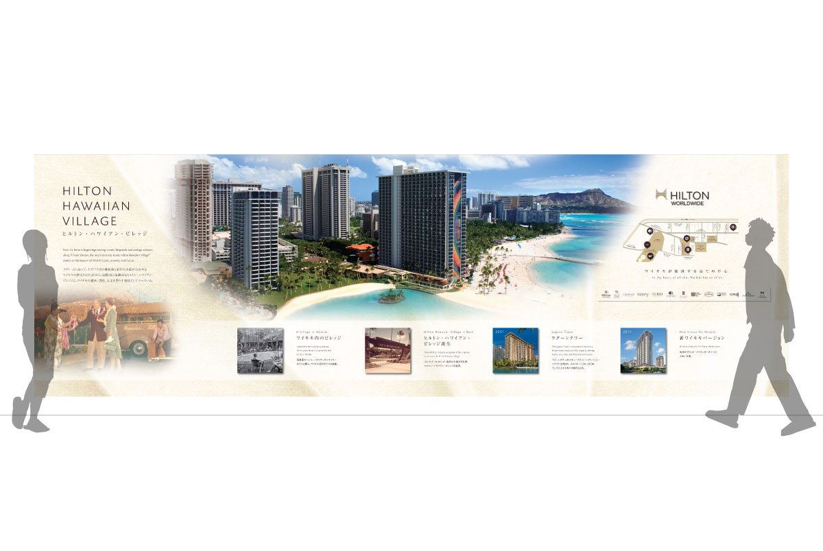 Grand Waikikian Sales Center Wall Mockup