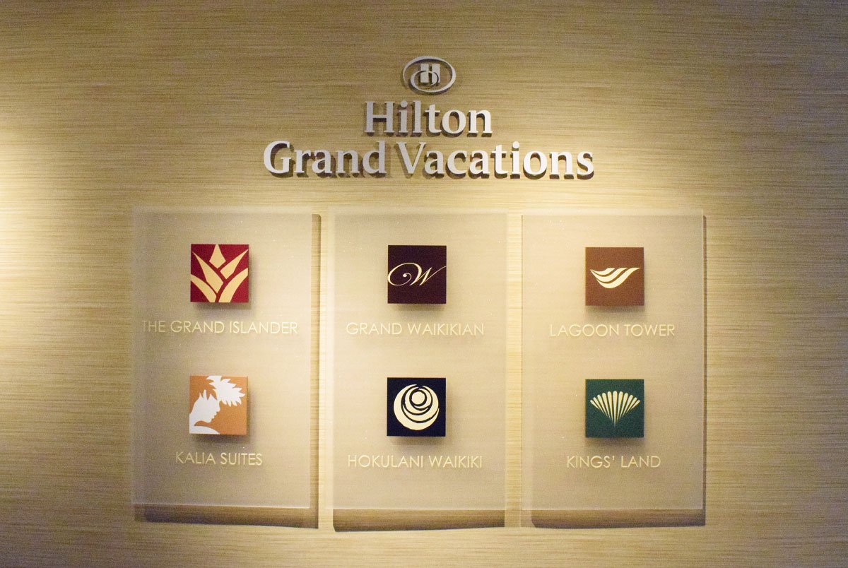 Grand Waikikian Sales Center Wall With Logos